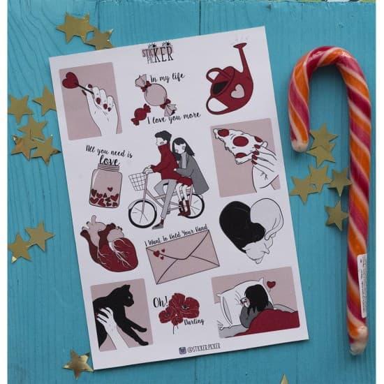 "Наклейки для ежедневника ""LOVE"", StickerPicker"