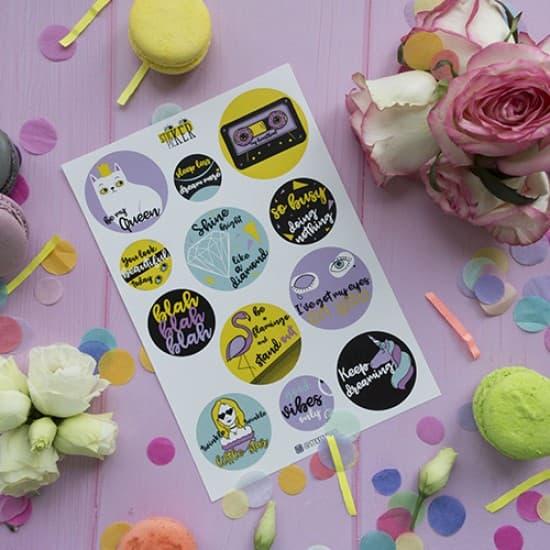 "Наклейки для ежедневника ""Vibes"", StickerPicker"