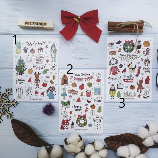Новогодний лист наклеек Merry Christmas, Miru