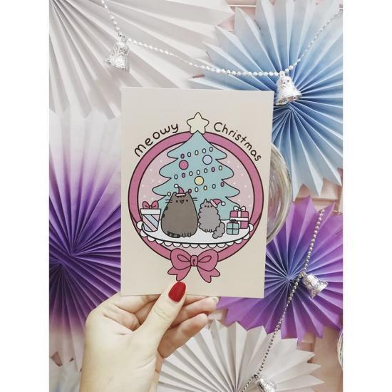 """Новогодняя открытка """"Meowy Christmas"""""""