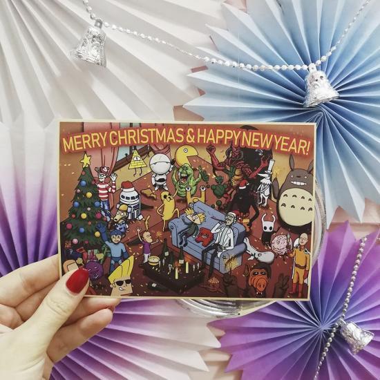 """Новогодняя открытка """"Multi Universe"""""""