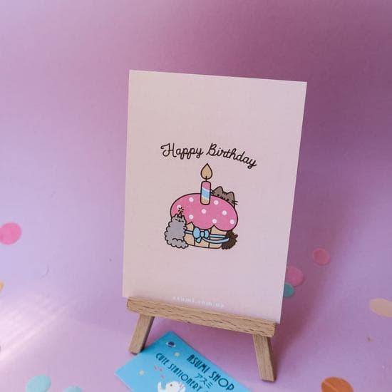 Открытка Pusheen Happy Birthday