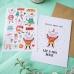 """Новогодний набор """"Christmas"""" открытка + лист наклеек"""