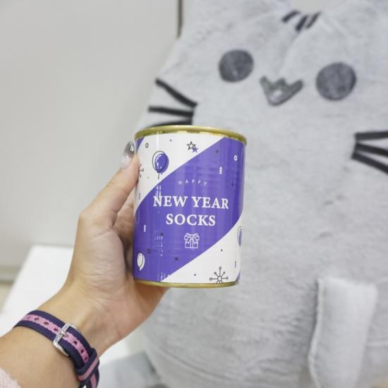 """Носки в банке """"New Year"""", blue"""