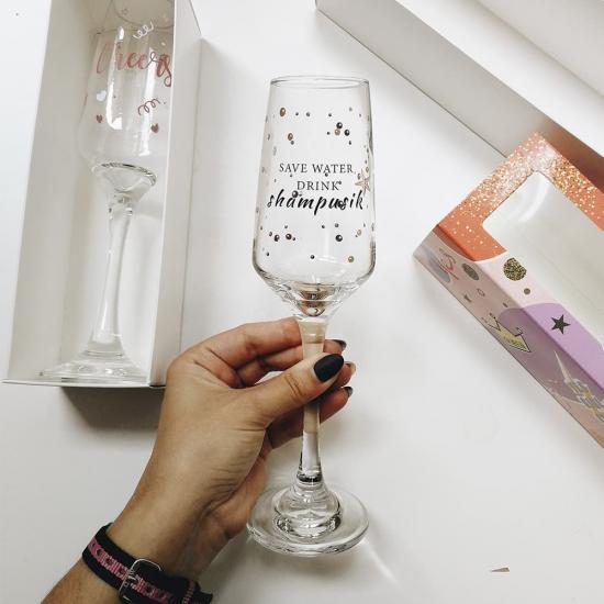 """Бокал для шампанского """"Shampusik"""""""
