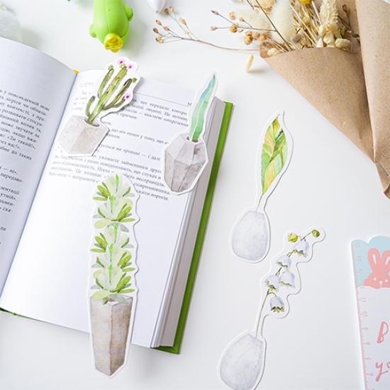 Бумажные закладки для книг Secret Botanical Garden (1 шт)