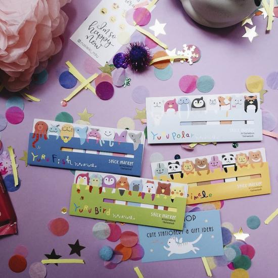 Милые стикеры закладки Yuru Animals