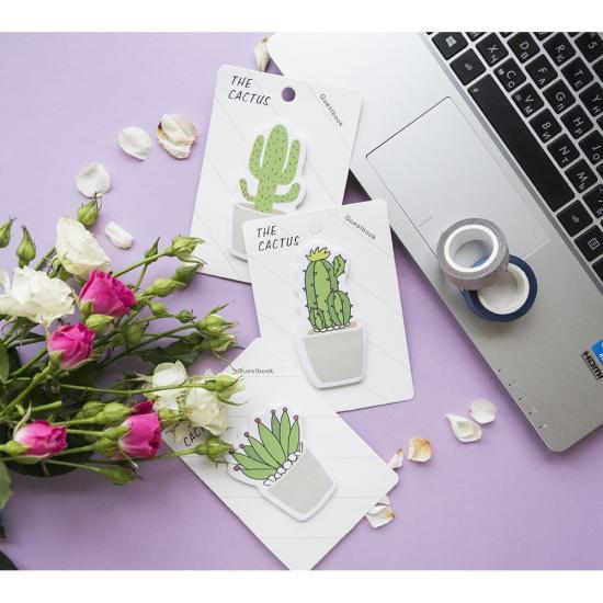 Стикеры канцелярские Cactus для заметок