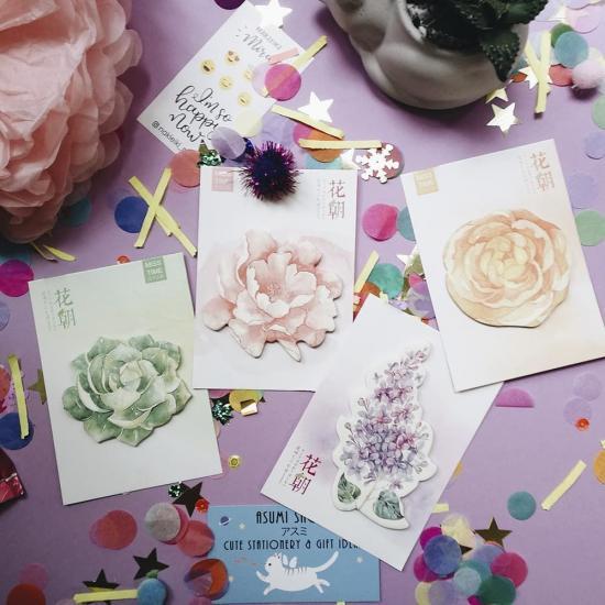 Стикеры канцелярские Flowers